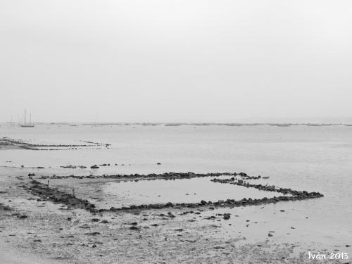 Antigua estructura para el marisco