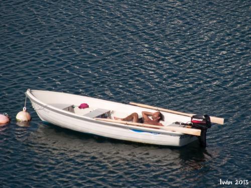Siesta en el mar